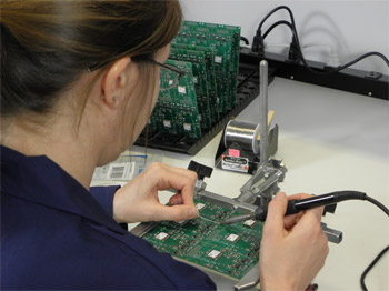 Manual Soldering of Printed Circuit Board Assembly